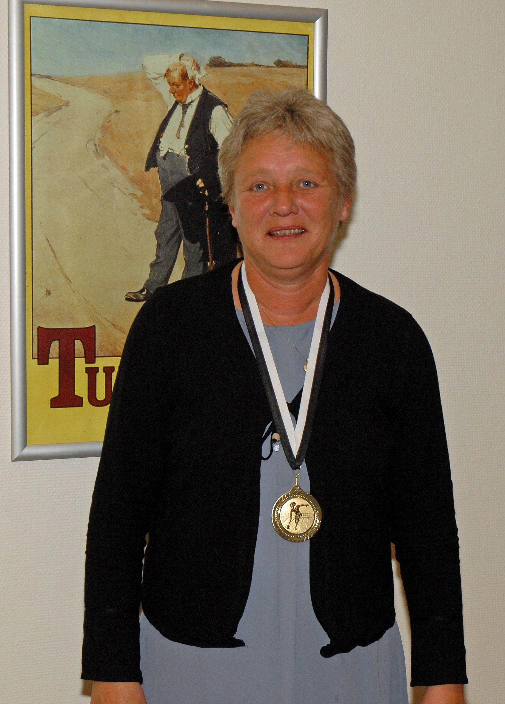 Klubmesterskab 2015. Damer række C. Guld til Berit Schmidt