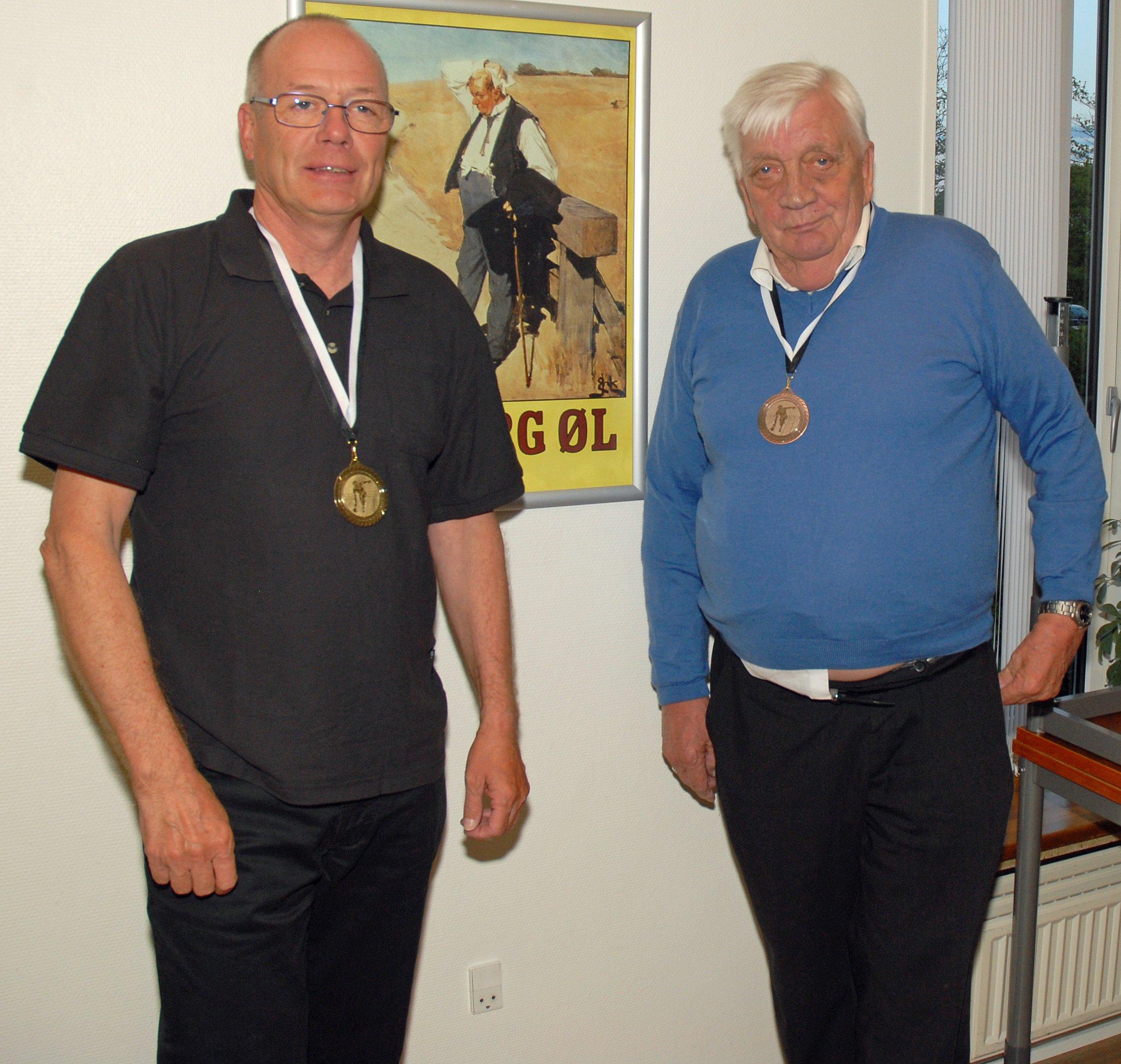 Klubmesterskab 2015. Herrer række D. Guld til Bent Udbjørg, Sølv til Max Tranberg (ikke på billedet) og Bronze til Jørgen Petersen
