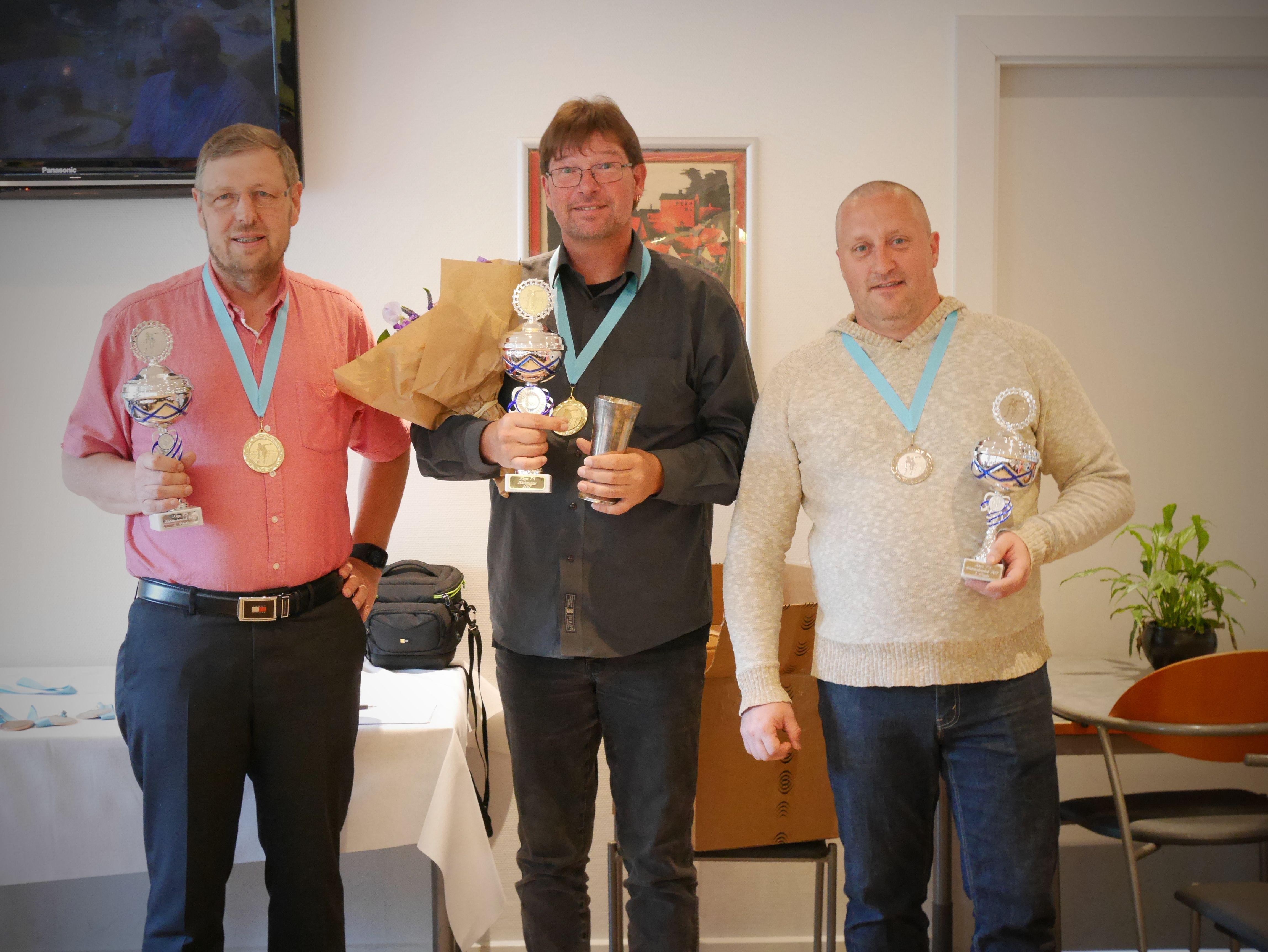 Klubmester Herrer Guld til Allan Kaurin, Sølv til Per L. Sørensen og bronze til Martin Reuther